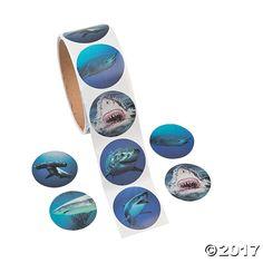Photo Realistic Shark Stickers - OrientalTrading.com
