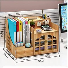 Study Room Design, Study Room Decor, Popsicle Stick Crafts House, Wooden Desk Organizer, Desk Tidy, Home Office Chairs, Wood Drawers, Desktop Organization, Woodworking Projects Diy