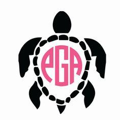 Turtle Monogram Iron-on or Stick-on Decals by SchmidtDesignsCo on Etsy