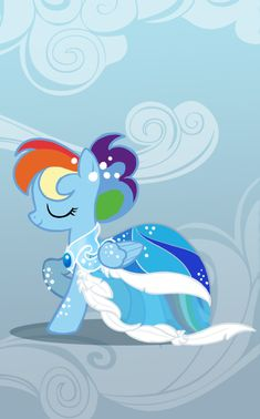 Rainbow Dash in a gown - My little pony friendship from Yahoo!