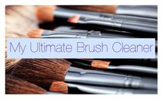 DIY make up brush cleaner by Michelle