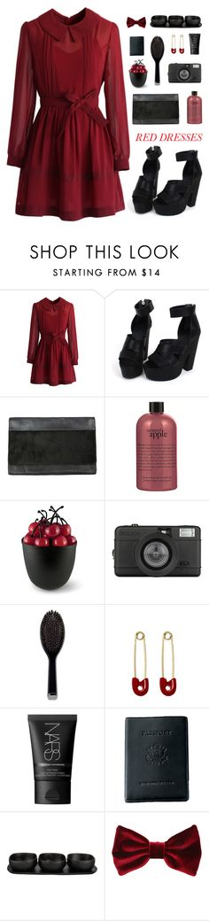 """"""" Can't take my eyes off you. """" by centurythe ❤ liked on Polyvore featuring Chicwish, AllSaints, philosophy, Donald Carlson, Lomography, GHD, Kristin Cavallari, NARS Cosmetics, Royce Leather and Tina Frey Designs"""
