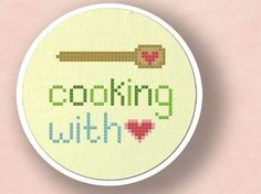 Cooking with love cross stitch