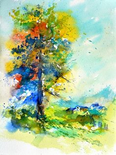 watercolor 515042, painting by artist ledent pol
