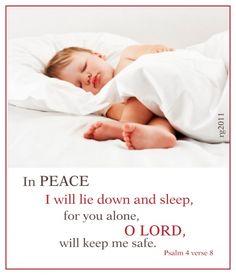 Lie down and sleep