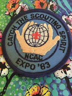 1983 Catch the Scouting Spirit NCAC Expo Boy Scout Scouts Patch