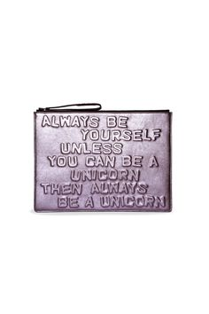 Boyy Always Be Yourself Clutch | Kirna Zabete