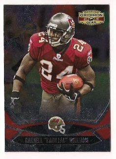 "FREE SHIPPING 2008 GRIDIRON GEAR CARD# 93 CARNELL ""CADILLAC"" WILLIAMS BUCCANEERS FOOTBALL CARD"