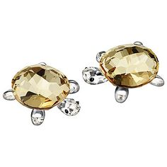 Simply irresistible! This heart-warming pair of baby tortoises shines radiantly in Crystal Golden Shadow with Jet crystal eyes and clear crystal... Shop now