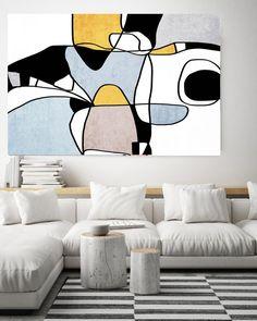 Abstract Line Art Line Art Modern Colorful Canvas Art Print Scandinavian print Minimalist abstract Wall decor Blue Yellow Minimalist Art Acrylic Painting Canvas, Canvas Art Prints, Painting Abstract, Brown Canvas Art, Art Abstrait Ligne, Art Minimaliste, Contemporary Wall Art, Modern Wall, Abstract Line Art