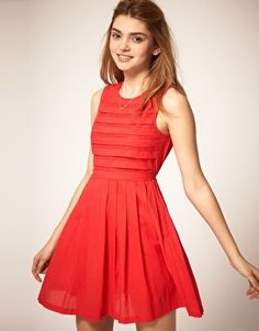 ASOS Summer Dress with Pleated Lace Bodice - StyleSays
