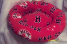 Boston Red Sox Dog Bed by Dallas1pd on Etsy, $45.00