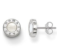 Thomas Sabo Earrings Glam & Soul Ear Studs Mother of Pearl Silver | C W Sellors Fine Jewellery and Luxury Watches