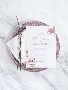 Floral Wedding Invitation Template Printable Wedding Invite