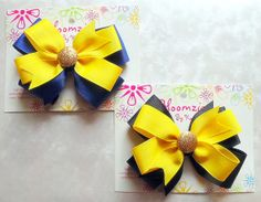Sports Ribbon Hair Bow or Hair Clip by Bloomzies on Etsy, $6.00