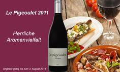 """Ehrlich, herzhaft, vollmundig und markant – der """"Le Pigeoulet"""" ist ein Wein mit erstaunlichem Potential. Grund dafür ist seine edle Herkunft, denn er entstammt den Weingärten in unmittelbarer Nachbarschaft zu Châteauneuf-du-Pape. Bestehend aus Grenache, Cabernet Sauvignon, Syrah und Cinsault, servieren die Gebrüder Brunier dem Weinfreund einen herausragenden Wein, fünf Monate im Holzfass ausgebaut, mit Herz, Harmonie und einer herrlichen Aromenvielfalt."""