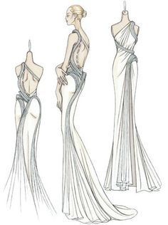 super Ideas for fashion illustration sketches couture atelier versace Illustration Mode, Fashion Illustration Sketches, Fashion Sketches, Fashion Sketch Dresses, Design Illustrations, Fashion Sketchbook, Atelier Versace, Fashion Art, Fashion Tips