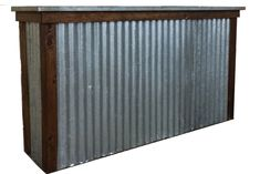 """Love this bar!  Corrugated metal bar, $100, available in Boston from <a href=""""http://www.bizbash.com/new-england-country-rentals/boston/listing/868332"""">New England Country Rentals</a></p>"""