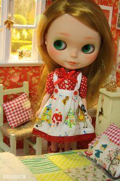 "Nerea Pozo Art: DIORAMA "" CHRISTMAS SPARKLES"" 1/6 dolls (Blythe,momoko ,licca, yo-sd ,barbie)"