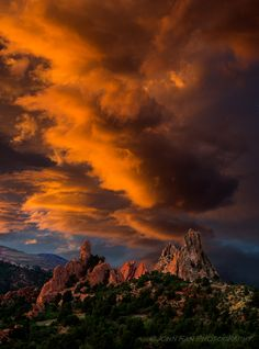 ~~Fire under the Heaven | spectacular sunset, Garden of the Gods, Colorado Springs, Colorado by John Fan~~