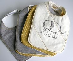 Easiest No-Sew Bibs | Folk Haven