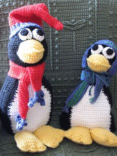Crochet penguins (pattern found at Herrschners's)