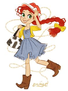 Jessie (Toy Story) (c) Pixar Animation Studios & Walt Disney Studios Arte Disney, Disney Fan Art, Disney Magic, Jesse Toy Story, Toy Story 3, Disney Toys, Disney Pixar, Disney Bounding, Disney Stuff
