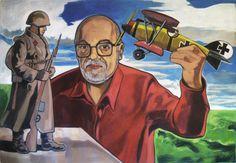 """""""Eduardo y el albatros"""" -acrílico sobre tela 120x90cm"""