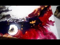 YouTube Liquid Paint, Acrylic Pouring, Art Lessons, Painted Furniture, Tapestry, Anime, Crafts, Hands, Youtube