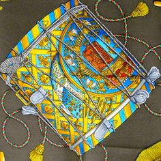 Les Tambours HERMES Silk Scarf by Carre de Paris Copyright