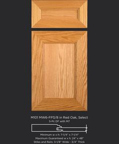 Versatile cabinet door design shown in Red Oak but looks great painted or in other wood species. Cabinet Door Designs, Cabinet Doors, Red Oak, Design Show, Wood Species, Painting, Image, Cupboard Doors, Painting Art