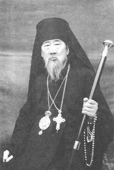 """Bishop Symeon (Du) of Shanghai (1886-1965).Simeon (Du Runchen) of Shanghai was the bishop of Shanghai of the Church of China during the middle of the twentieth century.He and his family escaped miraculously from the mobs of the Boxer (Yihetuan Movement) Rebellion of 1900.  On September 16, 1941, Dn. Fyodor was ordained to the priesthood and made priest-in-charge of the St Innocent Mission Church in Tainjin. In 1943, he was elevated to archpriest and in 1945, he was awarded a """"palitza""""."""