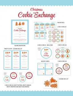 Christmas Cookie Exchange | Free Printables