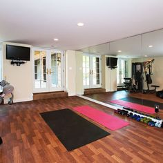Home Gym Workout Room. The boy would sure love this.