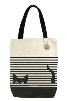 Seltzer Goods Cat Stripes Tote