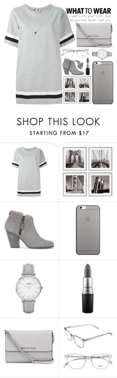 """""""grey"""" by khindmarch ❤ liked on Polyvore featuring MSGM, Eichholtz, rag & bone, Native Union, Topshop, MAC Cosmetics and MICHAEL Michael Kors"""
