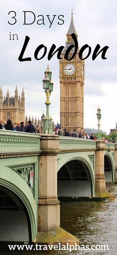 Are you visiting London, England soon and looking for some London travel inspiration? You've come to the right place! This 3-day London itinerary is packed with the best places to eat, the most impressive sights to see, free museums, places to shop, and more! Thanks for pinning!