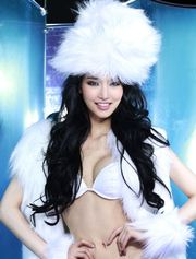 Yumi Kim, Miss Universe Korea is photographed by fashion photographer Fadil Berisha in the 2014 YAMAMAY FOR MISS UNIVERSE swimwear collection accessorized with faux fur. Beautiful Gorgeous, Beautiful Women, Miss Korea, Beauty Pageant, All Things Beauty, Beauty Queens, Korean Girl, Wonder Woman, Photoshoot