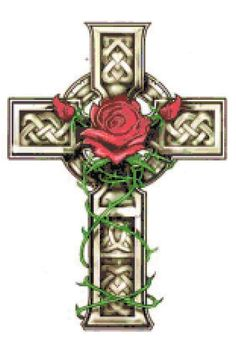 Celtic Flower Tattoos on View Tattoo Celtic Cross And Rose Tattoo Images Online Com Celtic Cross Tattoos, Celtic Art, Celtic Crosses, Irish Celtic, Celtic Tribal, Celtic Pride, Gothic Crosses, Celtic Symbols, Tattoo Son