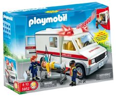Come to the rescue for people in need and then transport them to the hospital with this Playmobil Rescue Ambulance. This Playmobil set inspires imaginative play and learning fun with a complete