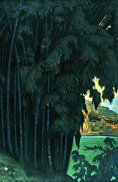 Ashram, Ceylon by Nicholas Roerich - 1931