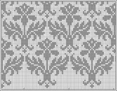 Kauni damask pattern - filet crochet, but I'll stitch it for a cushion... :)