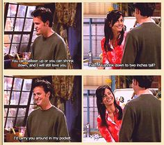 Chandler Bing and Monica Geller! Too perfect...