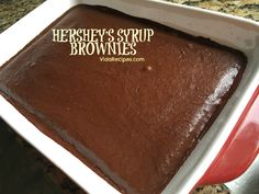 Hershey Syrup Brownies are a decadent brownie that is moist and rich in flavor! The syrup makes these brownies delicious and very chocolatey!