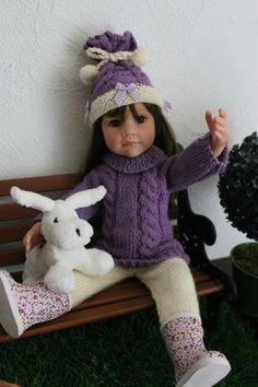 Tuto gratuit - ensemble pour Gotz (bonnet, tunique, leggings) - Les créas de Nathalie