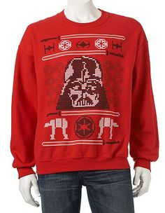 Shop men\u0027s sweaters at Kohl\u0027s , Bring the holiday force with this ugly, sweater inspired men\u0027s Darth Vader sweater.