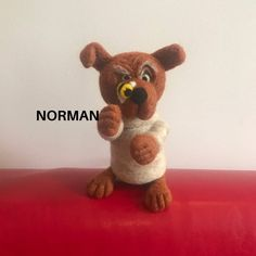 Norman the needle felted dog. Dog with bee. Quirky dog. | Etsy Needle Felted Animals, Felt Animals, Needle Felting, Cute Animals, Unusual Animals, Colorful Animals, Quirky Gifts, Unusual Gifts, Dog Lover Gifts