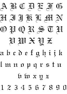 Old English Calligraphy Also Referred To As Blackletter Script