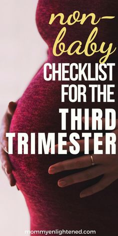 Here is a checklist for the third trimester of pregnancy. This checklist is all of the NOT baby related things you need to get done before your newborn is here! Trimesters Of Pregnancy, Pregnancy Tips, Pregnancy Belly, Pregnancy Health, Pregnancy Timeline, Pregnancy Nutrition, Pregnancy Workout, Baby Checklist, Baby Kicking