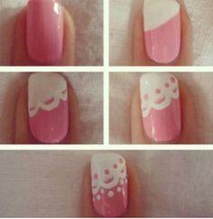 diy nail art see more about lace nail art nail arts and diy clothes, categories nails tags nail art tutorial nails, diy nail art see more ab. Cute Nail Art, Nail Art Diy, Easy Nail Art, Nail Art Designs, Simple Nail Designs, Nails Decoradas, Lace Nails, Wedding Nails Design, Hot Nails